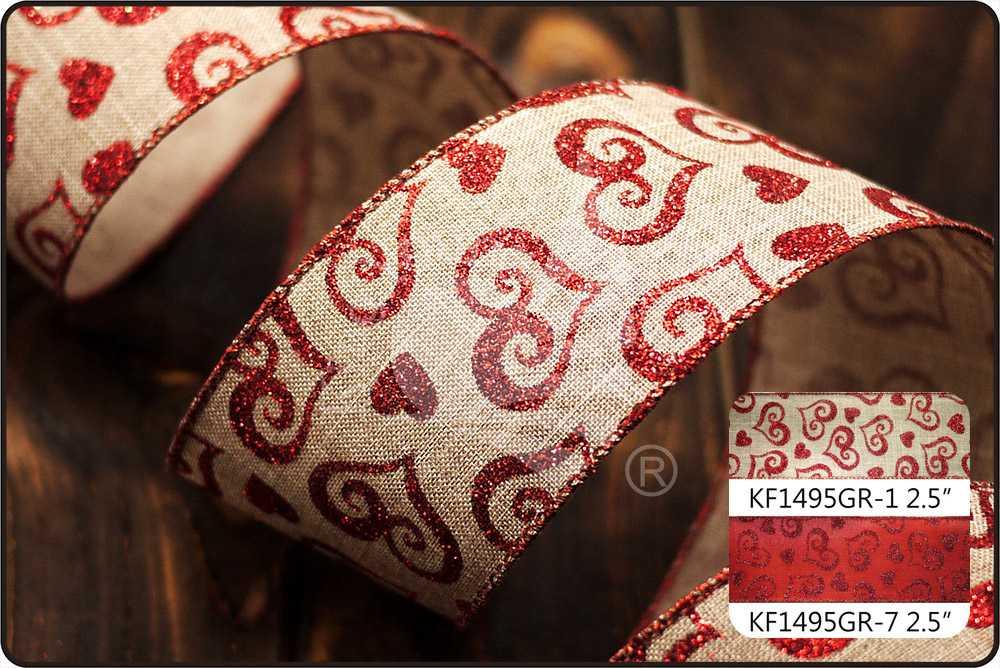 Ruban valentine approvisionnement de ruban en vrac - Paillette de lin ...