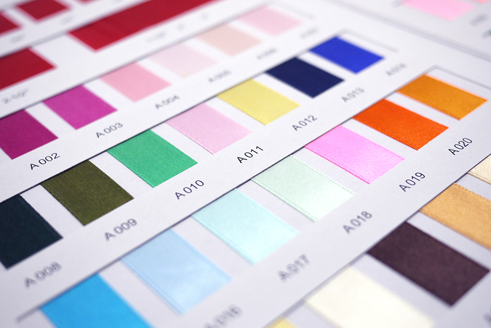 Wired Satin Ribbon Color Chart Wire Center