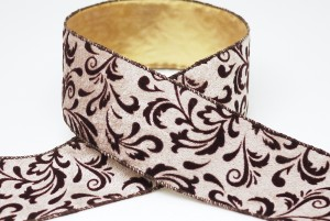 Luxurious Velvet Scrolls Christmas Ribbon - Velvet Scrolls Christmas Ribbon