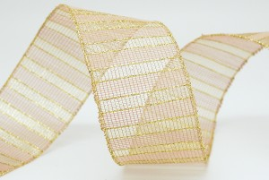 Polyester/Metallic Mesh Ribbon - Polyester/Metallic Mesh Ribbon