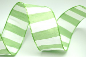 Wide Stripe Fabric Ribbon - Wide Stripe Polyester Fabric Ribbon