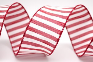 Bicolored Stripe Fabric Ribbon - Bicolored Stripe Fabric Ribbon