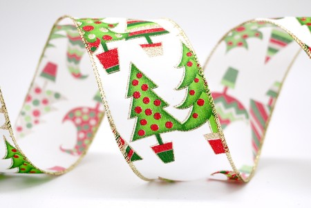 Cute Xmas Trees Ribbon - Cute Xmas Trees Ribbon