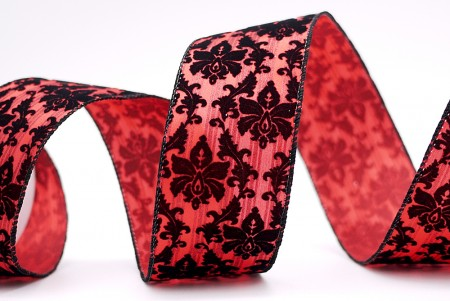 Damask Fabric Ribbon - Damask Fabric Ribbon