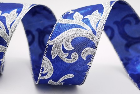 Glitter Scrolls Metallic Fabric Ribbon - Glitter Scrolls Metallic Fabric Ribbon