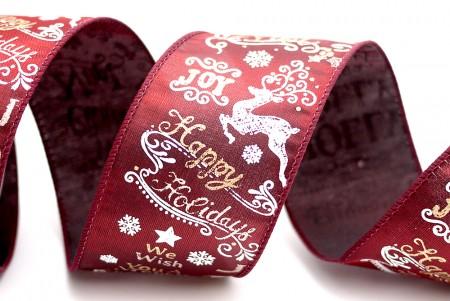 क्रिसमस वार्डिंग और प्रतीक साटन रिबन