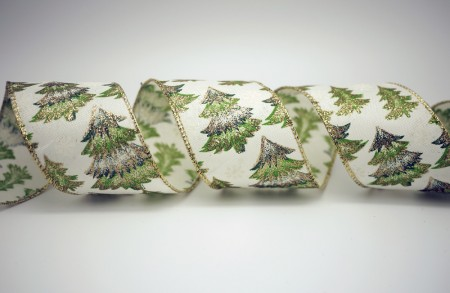 Snowing Christmas Tree Ribbon - Snowing Christmas Tree Ribbon