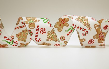 Gingerbread Man & Candy Cane Ribbon - Gingerbread Man & Candy Cane Ribbon