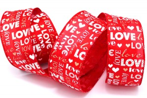 """LOVE"" Wording Valentine Ribbon - ""LOVE"" Wording Valentine Ribbon"