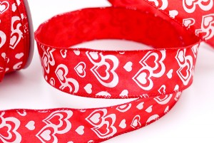 White Hearts Valentine Ribbon - White Hearts Valentine Ribbon