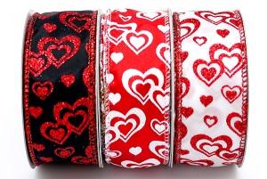 Valentine's Glitter Hearts Ribbon - Valentine's Glitter Hearts Ribbon