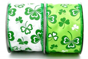 2.5 inch Matte St. Patrick's Day Ribbon - 2.5 inch Matte St. Patrick's Day Ribbon