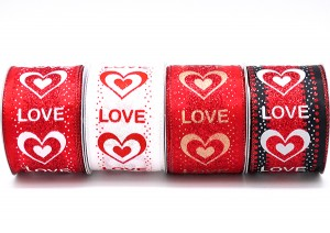 Glittery Valentine's Day Ribbon - Glittery Valentine's Day Ribbon