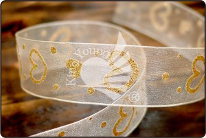 Glitter Heart Ribbon - Glitter Heart Ribbon (PR2898)