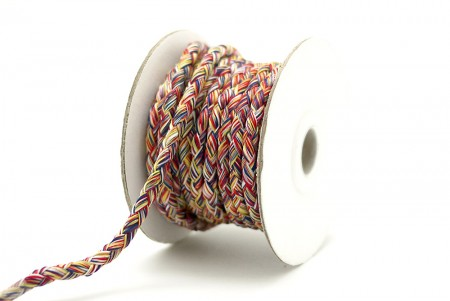 Multicolored Braided Cord - Multicolored Braided Cord