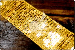 Sequins Trim Ribbon - Sequins Trim Ribbon