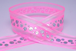 Dotted Sequins Sheer/Satin Ribbon - Dotted Sequins Sheer/Satin Ribbon