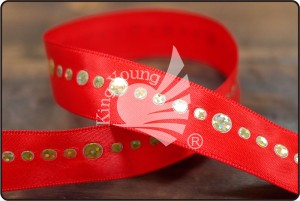 Satin Ribbon with Sequins - Satin Ribbon with Sequins