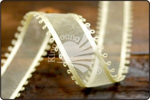 Picot-edge Sheer / Satin Ribbon - Picot-edge Sheer/Satin Ribbon (K414)