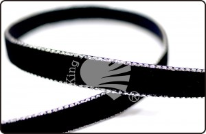 Silver Edge Velvet Ribbon - Silver Edge Velvet Ribbon
