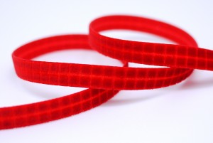 Checkered Velvet Ribbon - Checkered Velvet Ribbon