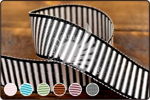 Bicolor Woven Stripe Ribbon - Bicolor Woven Stripe Ribbon