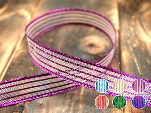 Metallic Stripe Ribbon - Metallic Stripe Ribbon