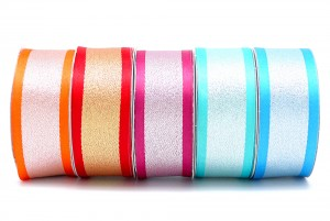 Reversible Satin and Metallic Ribbon - Reversible Satin and Metallic Ribbon