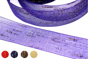 Gold Metallic Twist Nylon Ribbon - Gold Metallic Twist Nylon Ribbon
