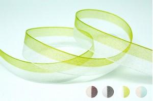 Bi-colored Organza Stripe Ribbon - Bi-colored Organza Stripe Ribbon