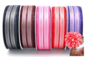 Metallic Stripe Woven Ribbon - Metallic Stripe Woven Ribbon