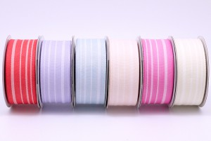 Organic Cotton Stripes Ribbon - Organic Cotton Stripes Ribbon