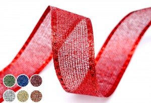 Metallic Woven Mesh Ribbon - Metallic Woven Mesh Ribbon