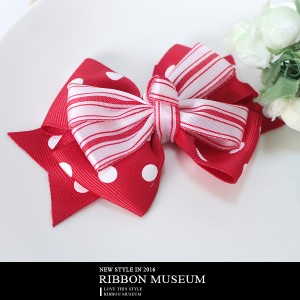 Red Fancy Double Bow