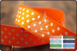 Polka Dots Grosgrain Ribbon - Polka Dots Grosgrain Ribbon