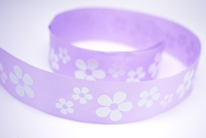 Iridescent Flowers Print Ribbon - Iridescent Flowers Print Ribbon