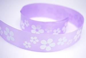 Iridescent Flowers Print Ribbon - Iridescent Flowers Print Ribbon