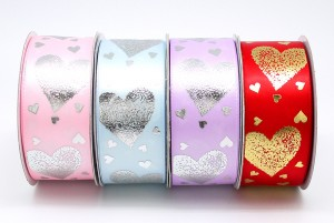 Hearts Everywhere Print Ribbon - Hearts Everywhere Print Ribbon