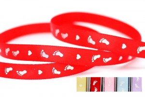 Heart & Feet Print Ribbon - Heart & Feet Print Ribbon