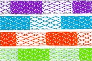 ジャカード・ウェビングと組み合わせた成形糸とフィラメント - ジャカードリボン(KN551)