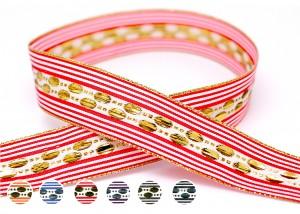 Spots and Stripes Jacquard Ribbon - Spots and Stripes Jacquard Ribbon