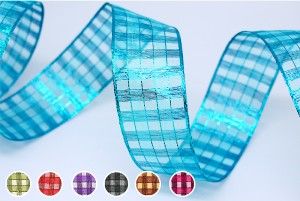 Metallic Checks Ribbon - Metallic Checks Ribbon