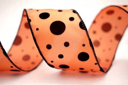 Mixed Dots Fabric Ribbon - Mixed Dots Fabric Ribbon