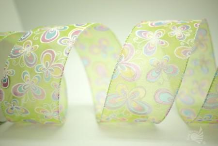 Kleurrijke vlinders organza lint - Kleurrijke vlinders organza lint