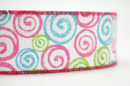 Swirl Lollipop Faux Burlap Ribbon - Swirl Lollipop Faux Burlap Ribbon