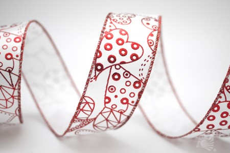 Foil Abstract Hearts Ribbon - Foil Abstract Hearts Ribbon