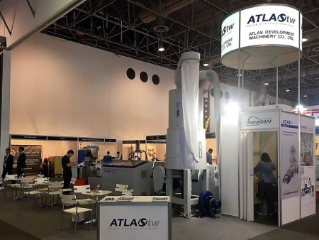 ATLAS's WPF Side Feeding Type plastic recycling machine in Plastivision Arabia 2017