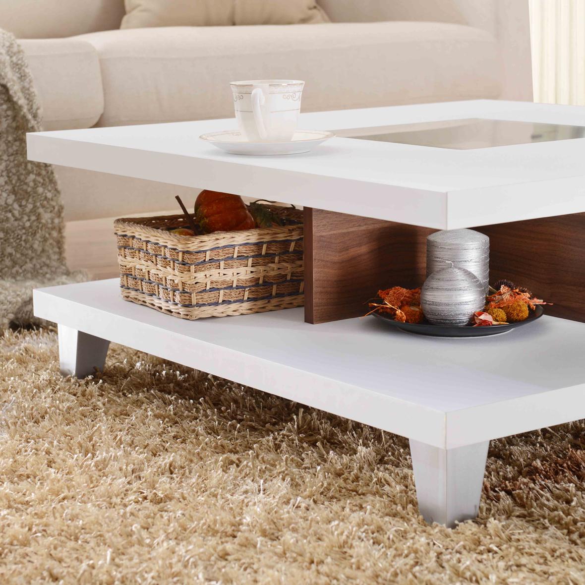 Mesa de centro cuadrada de fácil montaje 80cm | Fabricantes de ...