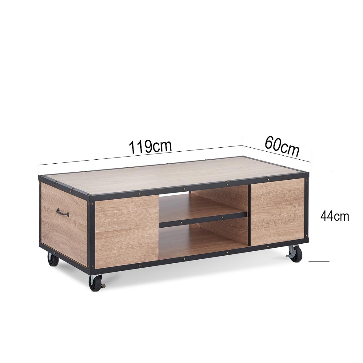 Mesa de centro móvil industrial del país | Fabricantes de muebles ...
