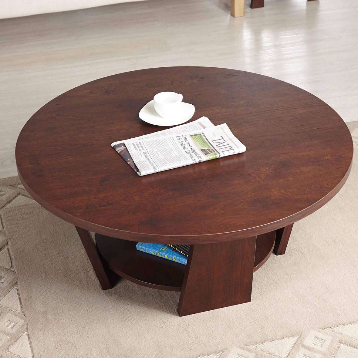 Table Basse Ronde Double Couche Fabricants De Meubles D  # Meuble Tvplus Rangement Avec Serrure